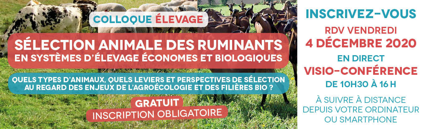 Colloque élevage 2020 sélécyion animale des ruminants